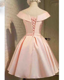 Pink Short Prom Dress Girls 8th Graduation Semi Formal Party Gown