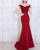 Black /navy/Burgundy fishtail Lace Wedding Bridesmaid Dresses Women Evening Party Gown PL214