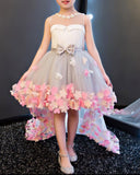 Little Girl Birthday Party Dresses High Low Baby Gown FG221