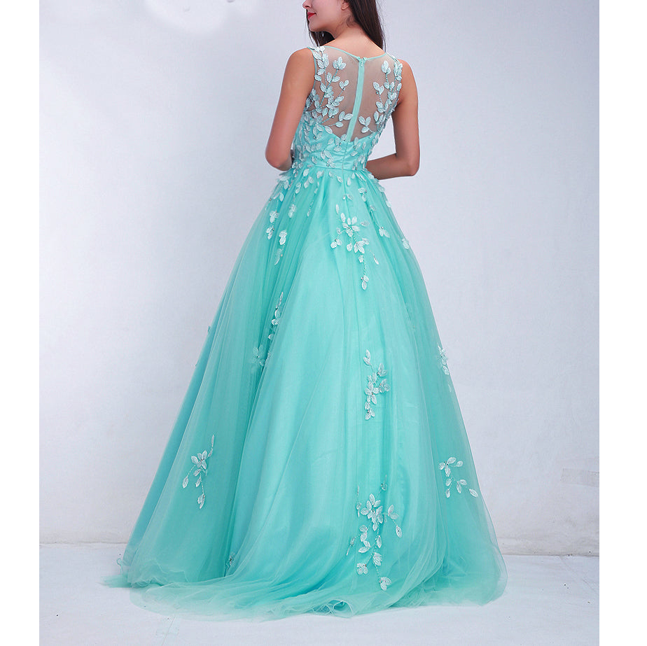 Turquoise and Ivory Prom Dresses 2018