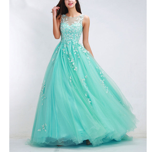 2018 elegant Long Prom Dress Aqua Senior Prom Gowns Graduation Long Dresses