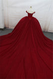 Luxury Beading Prom Dresses Off the Shoulder ball Gown Wedding Gown 2019