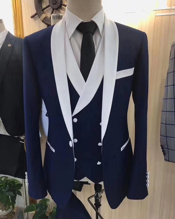 Formal Dress Suits for Men ,Groomsmen Wedding Tuxedos 3 Pieces
