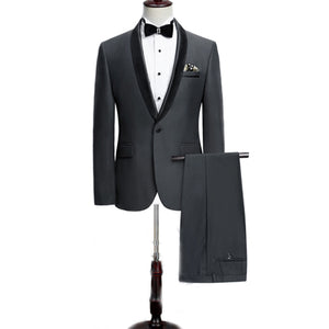 LP5512 Gentleman Two-piece Black White Groom Cheap Wedding Tuxedos Suits For Men Classic Tail Coat With Pants Slim Fit