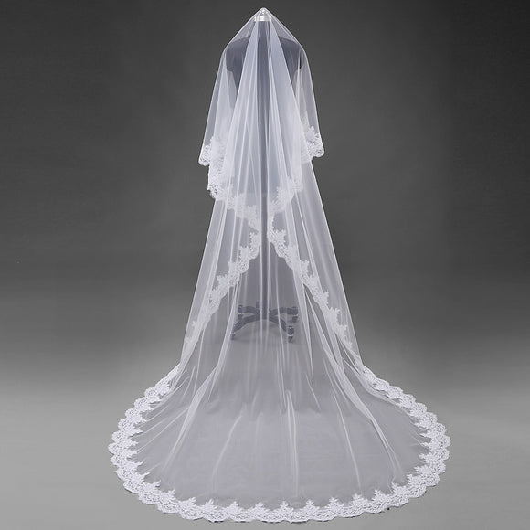 Siaoryne LP0925 Lace Bridal Veils wedding veil 3M