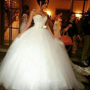 LP02145 Bling Bling Casamento Personalizado Wedding Dresses  Sweetheart Tulle Princess Ball Gown Bridal Gown