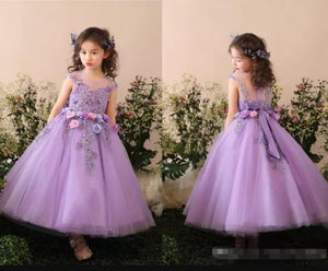 Lovely Flower Girl Dress lace Ball Gown Child formal Gown for Birthday Party Gown