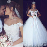 WD654 Off the Shoulder Princess Lace Wedding Dress, robe de mariee 2020