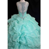 LP6956 Ball Gown Quinceanera Dress with Straps Beading Sweet 16 Dress for Girls party