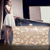 Women Evening Bags Ladies Clutches bag Purse Silver Gold Sale Price Crystal Wedding Party Bridal Bag