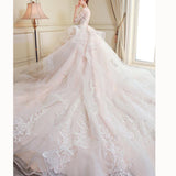 Gorgeous Ball Gown Poofy Wedding Gown Lace Bridal Dresses 2020 Vestido De Novias withSleeves