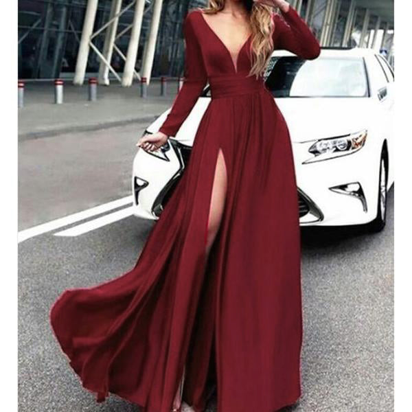 0e2d9eb965ac1 ... LP887 Emerald Sexy Deep V Neck Long Sleeves Evening Dresses Long Formal  Party Gowns