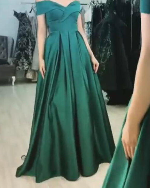 PL2744 Green Sexy Off the Shoulder Long Evening party Gown Prom Dresses Siaoryne