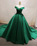Gorgeous Emerald Green /Wine red Ball Gown Women Formal Wedding Party Dresses PL7854