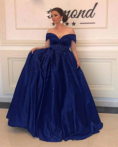 Siaoryne PL5214 Royal Blue Long Women Formal Evening party Dress 2020 with Crtytal