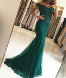 Women Formal Mermaid Lace Purple Prom Dresses Long PL2210