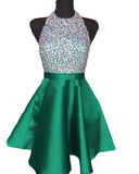 Halter Beading Short Graduation Dress Girls Homecoming Gowns for Teens SP0521