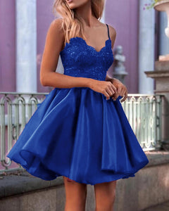 Cute Royal Blue Short Prom Dress,Organza Short Cocktail Party Gown ,Girls Short Homecoming Dress SP0622