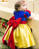 Snow White Colorful Baby Girl Dress Little Child Flower Girl Dress Ball Gown