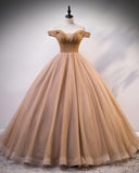 Beautiful  Princess Beaded Off the Shoulder Ball Gown Prom Dress,Women Wedding Gowns WD1008