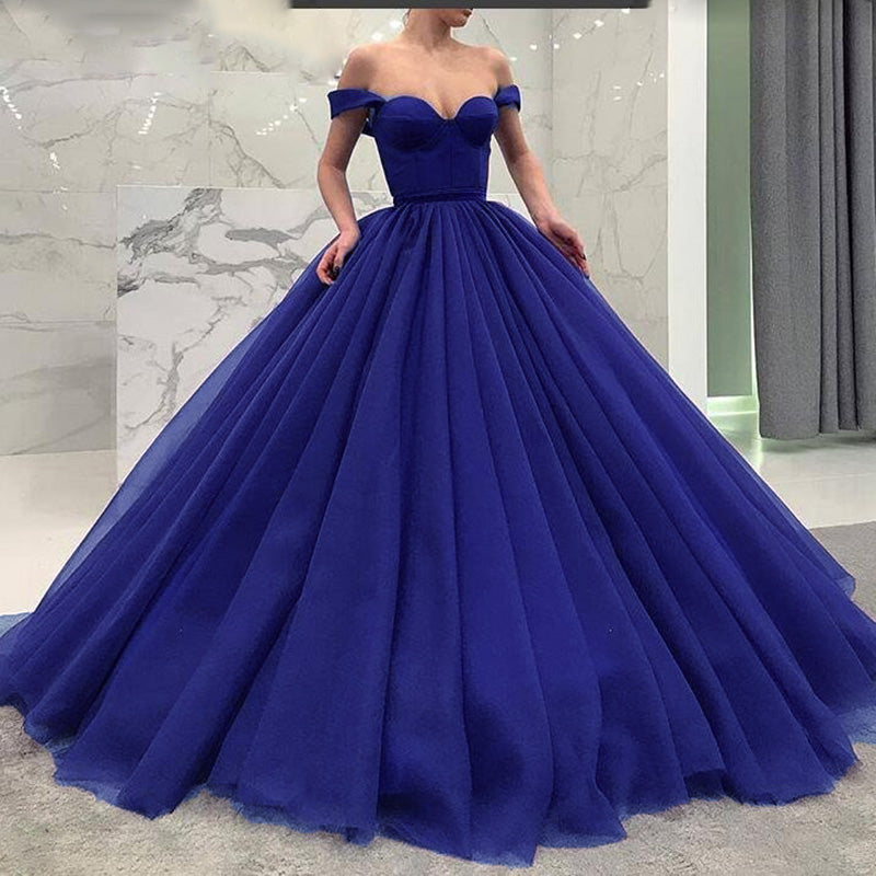 Fashionable Poofy Ball Gown Burgundy Wedding Dresses Off The Shoulder Siaoryne