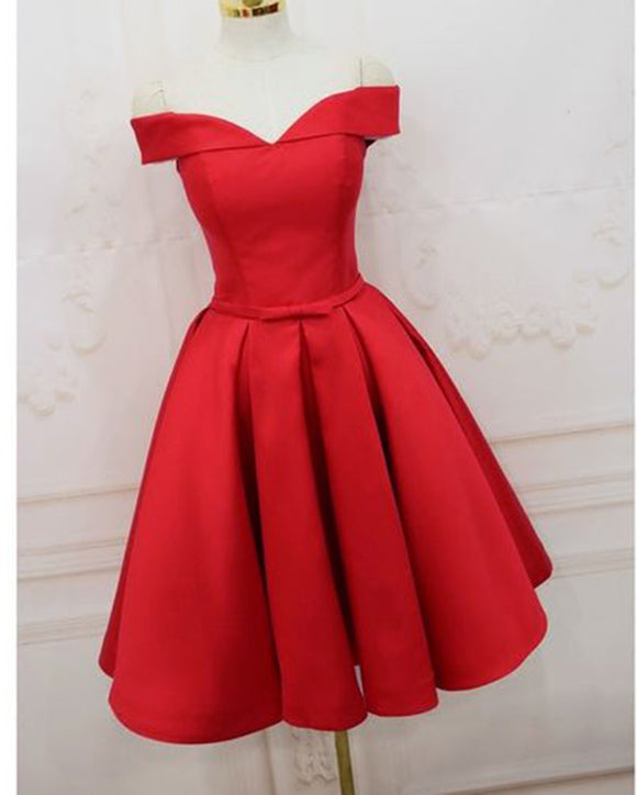 Red Short Homecoming Dress for Teens Student Formal Grade Dress Short Cocktail Dress