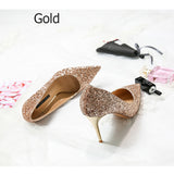 Women Pumps Bling High Heels Shoes, Glitter Prom Shoes ,Sexy Wedding Party Shoes Gold Silver,party shoes
