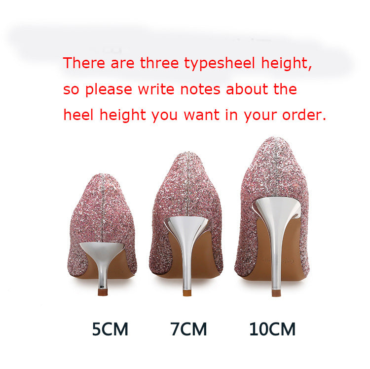 cdadf7e7455 Women Pumps Bling High Heels Shoes, Glitter Prom Shoes ,Sexy Wedding Party  Shoes Gold Silver,party shoes