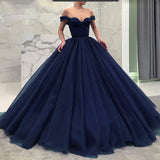 Fashionable Poofy Ball Gown Burgundy Wedding Dresses Off the Shoulder Prom Gown masquerade