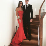Classic Sweetheart Red Prom Dresses Mermaid Evening Gown for Women ,Long Formal Party Dress Backless