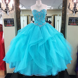 LP569 Fantastic Turquoise Quinceanera Dress Ball Gown Prom Dresses 2018 , sweet 16 gown for special 15th birthday