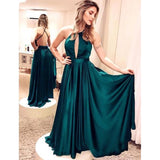 Beautiful Halter Sexy Prom Gown Long Women Evening Dress Cheap 2018 LP587