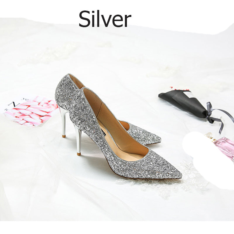 5a767ab7eb9 Buy Women Pumps Bling High Heels Shoes