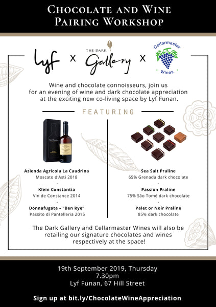 Chocolate and Wine Pairing Workshop: The Dark Gallery x Cellarmaster Wines