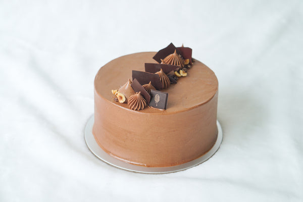 Hazelnut Dark Chocolate Cake