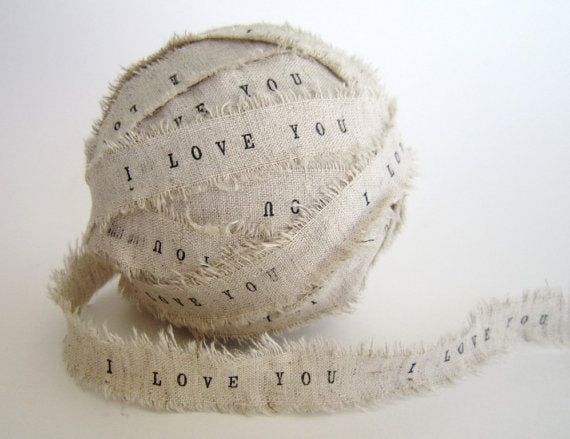 Personalized Rustic Ribbon 2 Yards