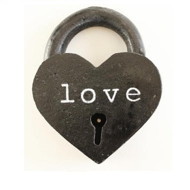 Custom Heart Shaped Love Lock