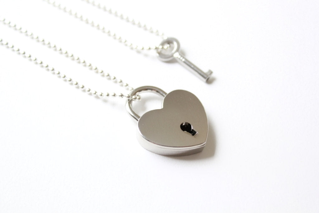 Lock and Key Necklace / Couple's Necklace