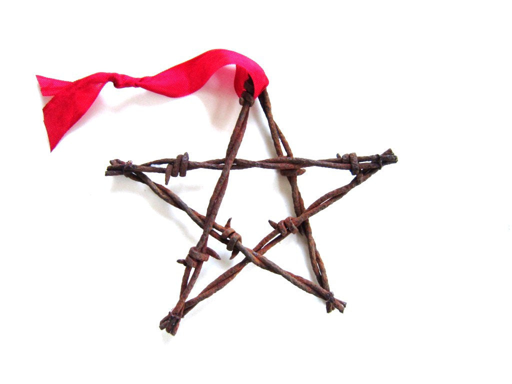 Barbed Wire Star Ornament