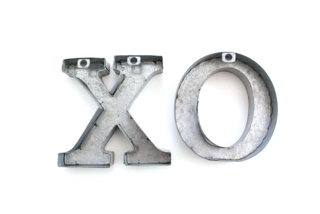 Small Tin Letters Xoxo Metal Letters Xohugs And Kisses Tin Letters Free