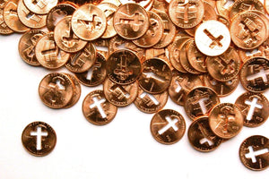 Cross Cutout Pennies From Heaven Coins