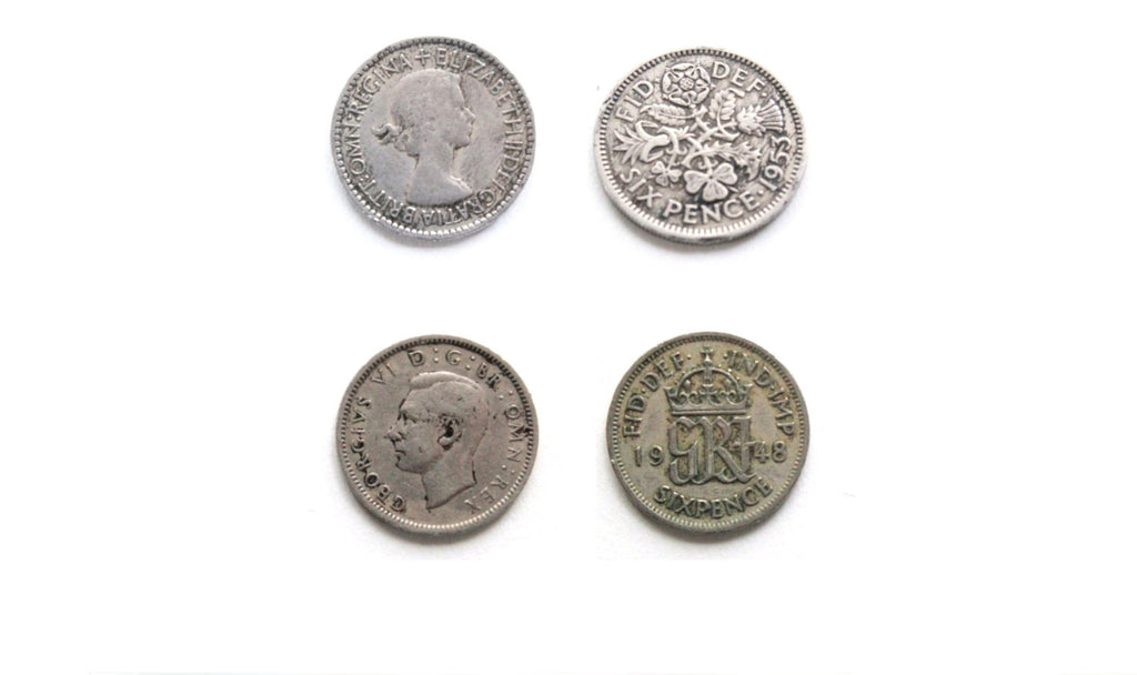 Wedding Sixpence Six Pence Personalized Sixpence Something Old