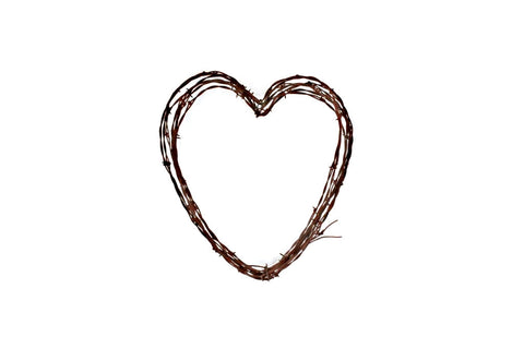 Barbed Wire Heart Wreath