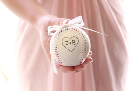 Baseball Ring Bearer Pillow Alternative