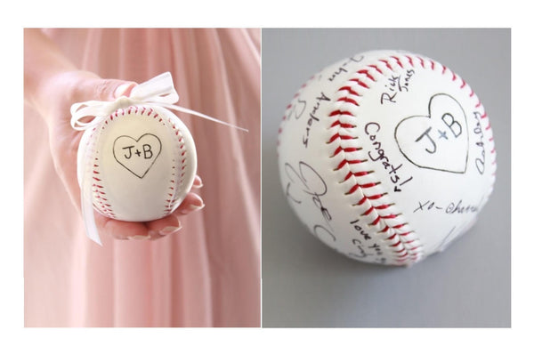 Baseball Wedding Guest Book Alternative