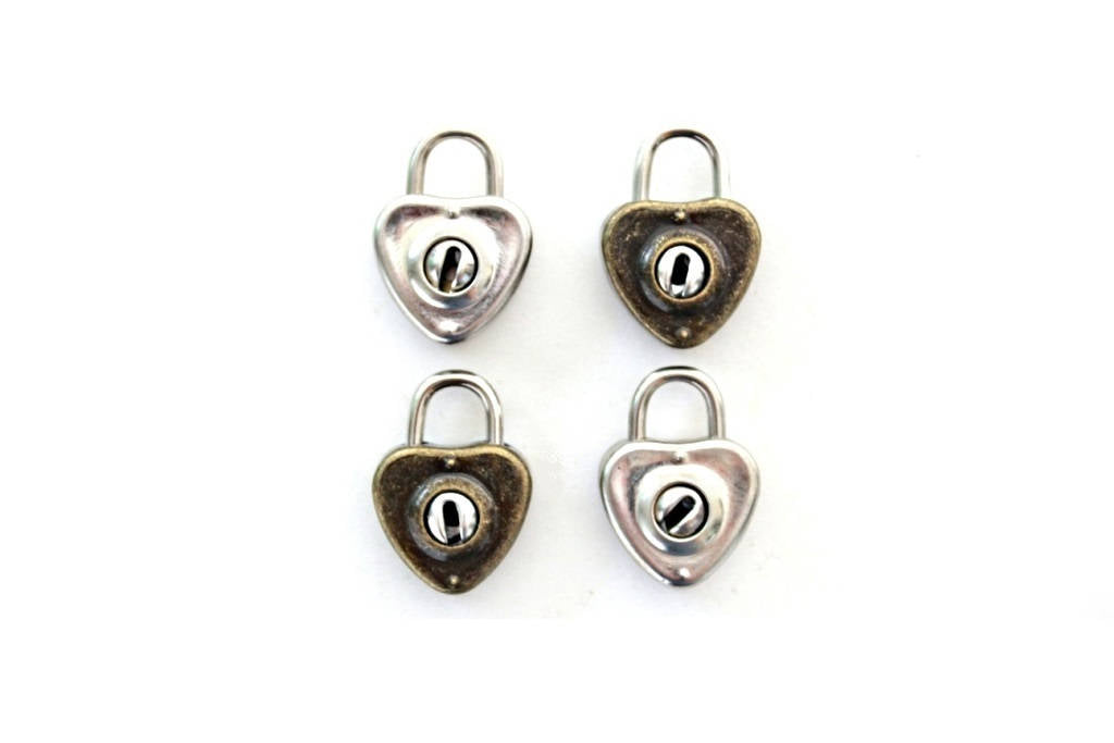 Small Heart Padlock and Key