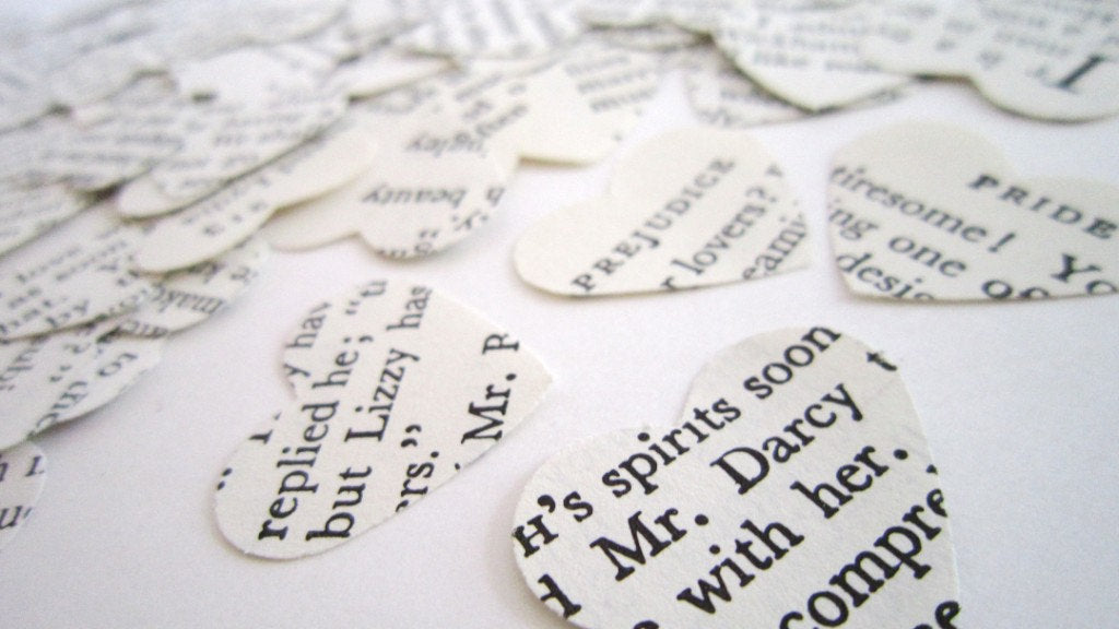 Pride and Prejudice Wedding Confetti