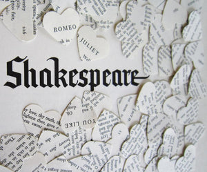 100 Vintage Shakespeare Book Confetti