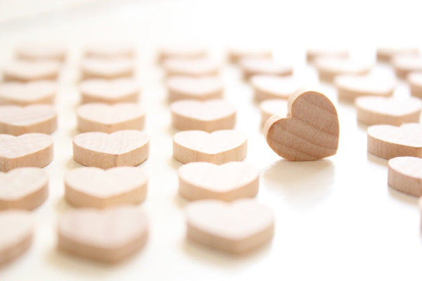 Wood Heart Wedding Confetti/heart confetti , rustic wedding , wedding favors , wedding decor , wood hearts