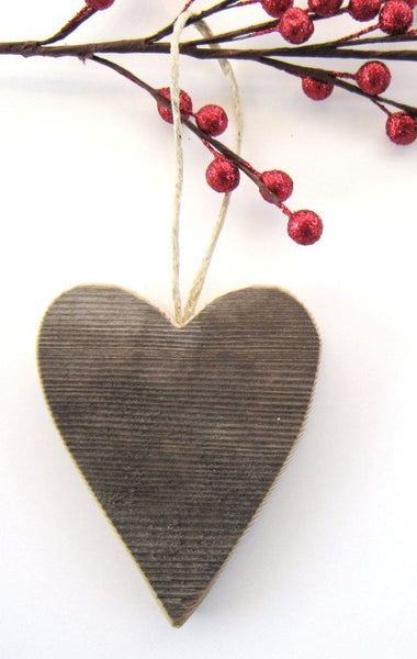 Barn Wood Heart Ornaments